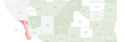 Calhoun County Map