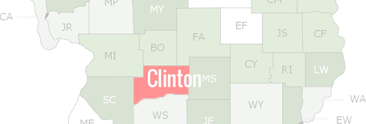 Clinton County Map
