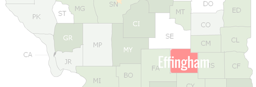 Effingham County Map