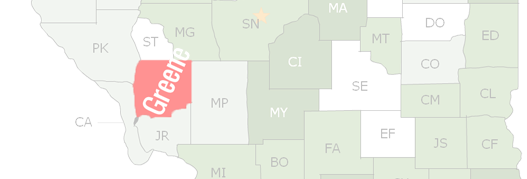 Greene County Map