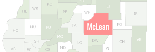 McLean County Map