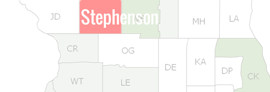 Stephenson County Map