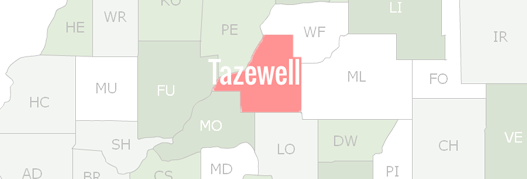 Tazewell County Map