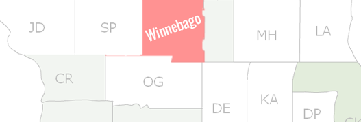Winnebago County Map