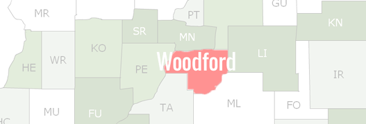 Woodford County Map